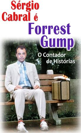 Cabral em versão Forrest Gump